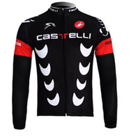 Wholesale New Castelli Cycling Jersey Long Bicicleta Mountain Bike Jersey Outer Door amp Sports Bicycle Jersey Cycling Clothing sportswear S XL