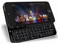 Wholesale Mini Wireless Bluetooth Keyboard with case for Apple iphone5 Bluetooth Keyboard for iphone5