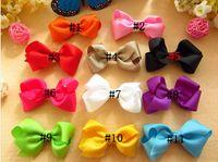 baby duck ribbon - Baby Handmade Butterflies Bows Butterfly tie Duck Clips kids Girls Ribbon Hairwear hair accessor