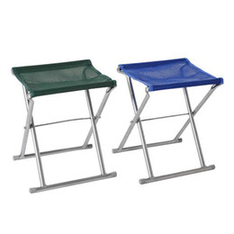 Wholesale Folding Fishing chair stool bench aluminium tube Light easy to carry folding chairs color random