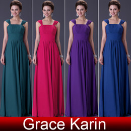 Wholesale 1pcs Hot Selling Elegant A line Princess Long Chiffon Formal Evening Gown Prom Party Dress CL3222