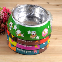 Wholesale pet stainless bowls pet melamine bowl dogs and cats rating utensils dogs and cats drinking bowl