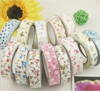 Wholesale Washi Masking Cloth Tape self adhesive Decoration Fabric Tape Janpan style Flower Frabric DIY Tape