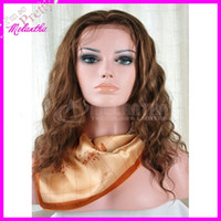 Wholesale Full lace wigs Peruvian remy human hair wigs quot quot invisible part wigs for armerivan women