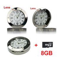 Wholesale 8GB card NEW Clock Watch Camera Video Recorder WebCam Motion Detection Nanny Hidden DVR