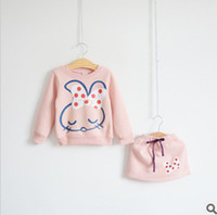 Cotton Blends sweat suit - 2013 Autumn New Arrival Fashion Years Baby Girl s Thicken Sweat Suits Fleece Kilt