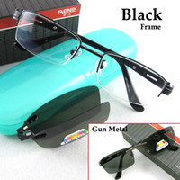 Wholesale Fashion Men Glasses Men Frame Men Eyeglasses Magnetic Clip on Sunglasses Polarized Sunglasse Clip on Men s Sunglasses Plank Temple