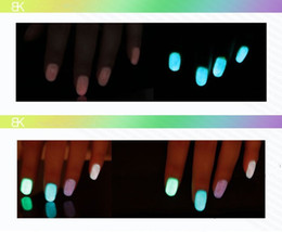 Wholesale HK Post BK fluorescent polish nail oil glow in the dark magnetic neon luminous art nailoil professional products