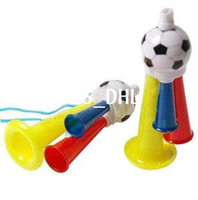Wholesale Vuvuzela Cheerleading Fan Horns Olympic Games Plastic Whistles Horns Support Toys Mix