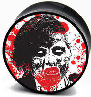 Wholesale Zombie Invasion screw ear plugs tunnel mixing sizes body piercing jeweley flesh tunnel E0P1869