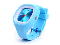 Wholesale New Fashionable Square Jelly Watch Hot sale Unisex Quartz Sports Silicone Wrist Watches Candy