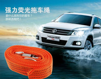 Wholesale Powerful Heavy Duty Tow Rope Cable Towing Strap High Strength Polyester With Metal Hook Load tons