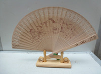 Wholesale New Wooden Chinese Gifts Classic Sandalwood Elegant Fans Arts Handy Gift Japanese Fans Mixed