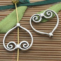 20pcs tibetan silver color heart shaped frame charms H3301