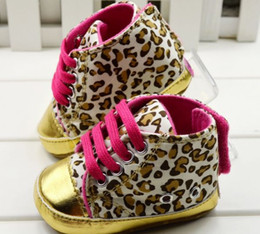 Wholesale New Baby girls shoes Leopard Toddler shoes soft sole baby Walkers Wear Comfortable kids Casual Shoes