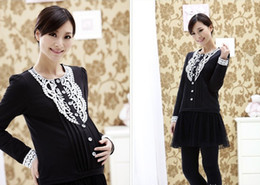 Wholesale hot New Maternity Fashion Mummy Cotton Buru Yi Breast feeding Women dress X8865