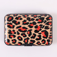 Wholesale Credit Card Holder Metallic Aluminum Wallet Credit Leopard Card Case Zebra Card Bag Colors with color box