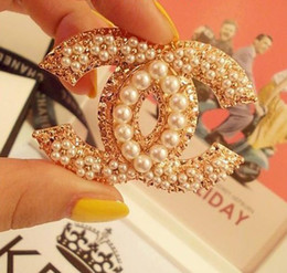 Wholesale vintage classic xx luxury mpearl all match brooch crystal party and dress jewelry easy to DIY by yourselft