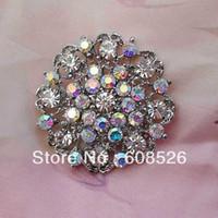 Fashion no min order - brooch piece AB crystal rhinestone alloy pins accept min order usd item no BRH3909