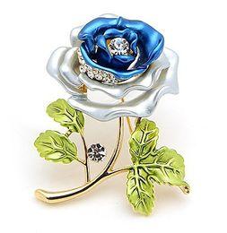 Free Shipping!High Quality Brooch Decorative Garment Dress Accessories Wedding Bridal Luxury Rhinestone Flower Rose Brooch Pin