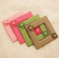 Wholesale Rural Handmade Switch Decoration Sets Polka Dot Flowers Cloth Switch Cover Cotton Switch Dust proof
