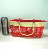 Wholesale Bridal bag wedding handbag lady wedding celebration Chinese retro bag silk bamboo noble Phnom Penh