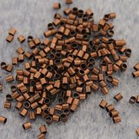 Wholesale 2000pcs copper tone crimps tube findings beads H3346