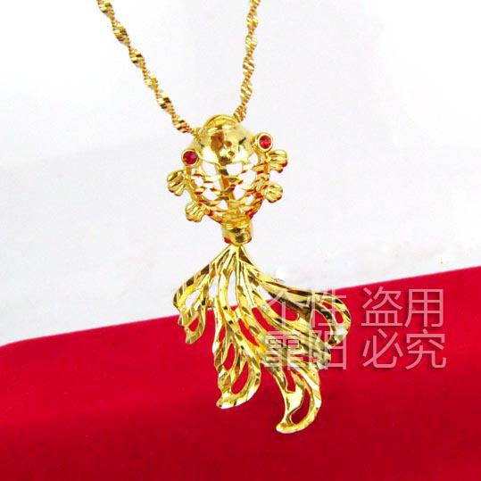24k gold plated necklace pendant gold millipede high for Does gold plated jewelry fade