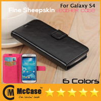 Wholesale Book Style Leather Case For Samsung Galaxy S4 i9500 Flip Luxury Wallet With Stand Card Holders Hot