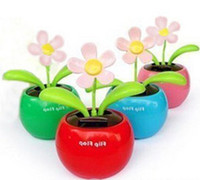 solar dancing toys - Low price a of Novelty ToysCar Decor Flap Flip Solar Powered Flower Flowerpot Swing Solar Dancing Toy Ornaments