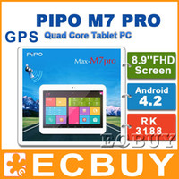 Wholesale PIPO M7 PRO inch GPS tablet PC M7pro G version RK3188 quad core ghz Android G GB PLS