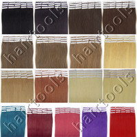 Wholesale Straight quot Remy fashion Tape skin human hair extensions b