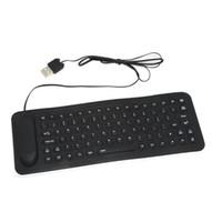 Wholesale HOT Mini Keys Foldable Flexible Compact Waterproof USB Silicone Keyboard with