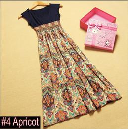 Wholesale Factory Best Price OFF Women Long Bohemia Dress Beach Patchwork Lady Chiffon Skirt