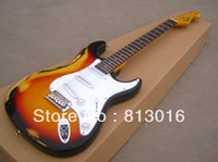Wholesale F American F ST electric guitar fingerboard old aged relice Color OEM electric guitar