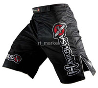 Wholesale MMA black falcon design boxing shorts martial art wear wrestling fight shorts