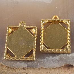 15pcs gold tone picture frame charm H3379