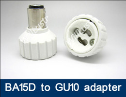 100pcs lot BA15D to GU10 adapter LED Light Lamp BA15D-GU10 adaptor lamp holder GU10 to BA15D converter adapter