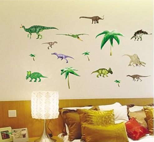 Wholesale Removable Dinosaurs Wall Stickers Kids Room Wall Decor Wall Decals Stickers Wall Art Wall Sticker Online With 4 1 Piece On China Crafts S Store