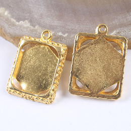 15pcs gold tone picture frame charm H3391