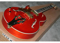 Wholesale new arrival red left handed jazz electric guitar in stock