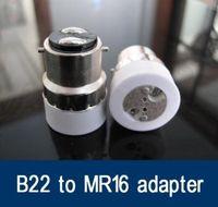 flame retandant PBT adapter mr16 - Fedex B22 to mr16 Converter Adapter Led Halogen CFL light bulb lamp B22 to MR16 adapter B22 MR16 bulb holder MR16 B22