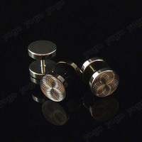 Mix 20pc 316L Steel Round Fake Plugs Studs Ear Piercing Body...