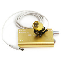 Yellow   Cheap price Ultra Light Portable LED Lamp Headlight for Dental Surgical Medical loupes Tools with CE ISO Approved