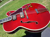 archtop guitar - hot sell one piece Byrdland Wine Red Archtop Jazz Guitar James Hutchins Built