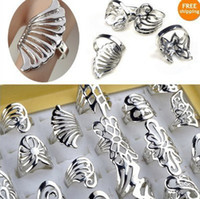 Wholesale 50 OFF X Silver Tone Rings Jewelry Vintage Rings Mix Kinds Top Quality VR92
