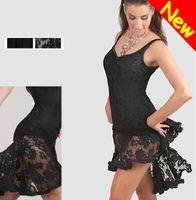 Acheter Style de tango-2014 Nouveau Style W latine salsa tango Ballroom Dance Robe Noir, blanc, rouge