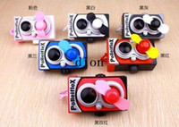 Wholesale New arrive Lens camera fan with rope Battery fan vintage camera fan mini fan