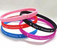 Jelly, Glow jelly bracelets - Jelly bracelet Type Diabetes Insulin Dependent medical silcone wristband bracelet