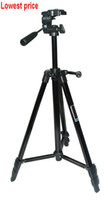 Wholesale 57 inch mm Professional Aluminum Alloy Tripod black color For Cameras Camcorders and webcam by EMS